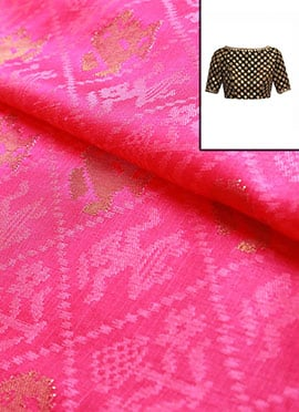 Pink Art Silk Blouse
