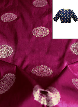 Magenta Art Silk Blouse