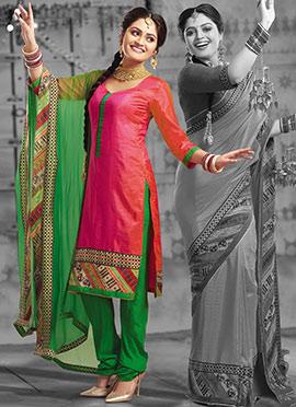 Pink Art Silk Churidhar Suit