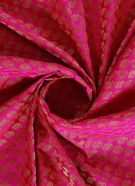 Pink Art Silk Fabric