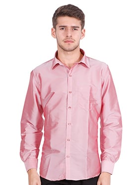 Pink Art Silk Shirt