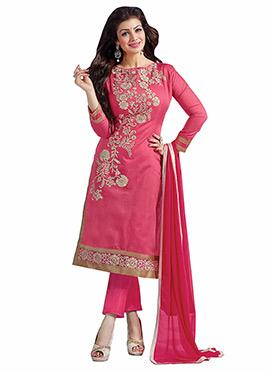 Pink Ayesha Takia Straight Pant Suit
