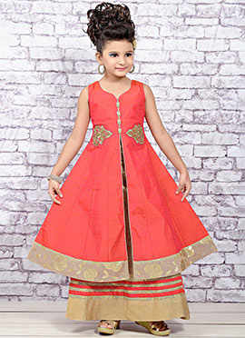 Pink Banarasi Silk Long Choli Lehenga