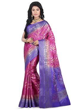Pink Benarasi Pure Silk Saree