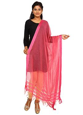 Pink Benarasi Rayon Dupatta