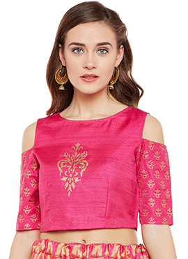 Pink Bhagalpuri Art Dupion Silk Top