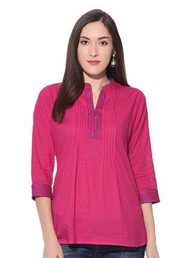Pink Blended Cotton Top