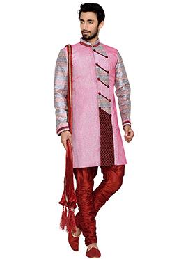 Pink Breeches Style Indowestern Sherwani