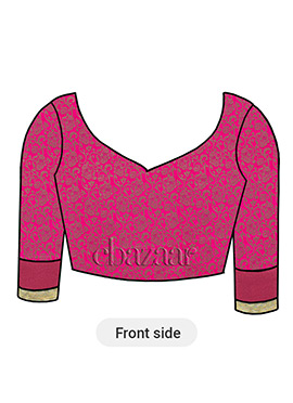 Pink Brocade Inspired Blouse