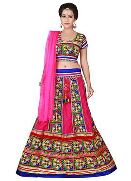 Pink Cotton Chaniya Choli Lehenga