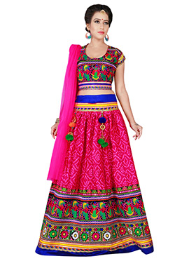 Pink Cotton Chaniya Choli Lehenga