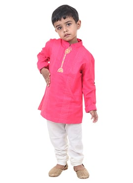 Pink Cotton Chiquitita by Payal Bahl Kids Kurta Py