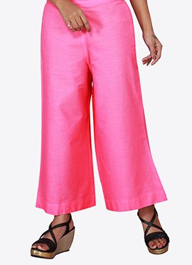 Pink Cotton Culottes