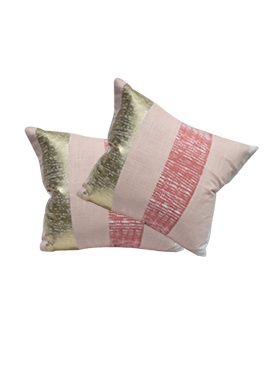 Blush Pink Cotton Cushion Cover
