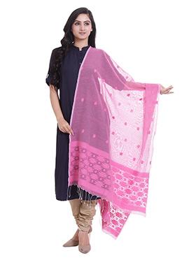 Pink Cotton Dupatta