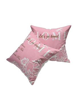 Pink Cotton Home Cushion Cover