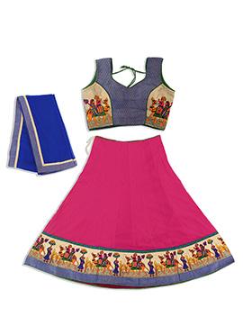 Pink Cotton Chaniya Choli