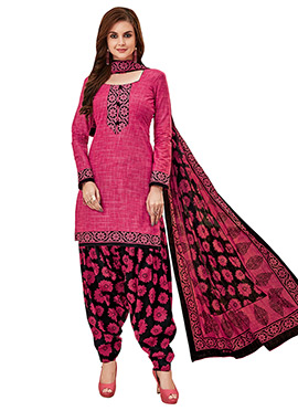 Pink Cotton Salwar Suit