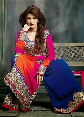 Sonali Bendre Pink Crepe Palazzo Suit