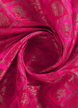 Pink Dual Tone Brocade Fabric