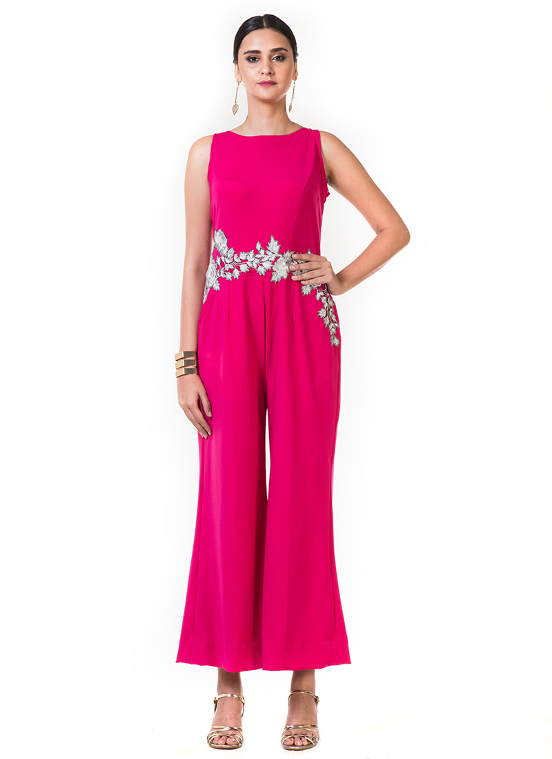 21104f24148 Buy Pink Embroidered Jumpsuit