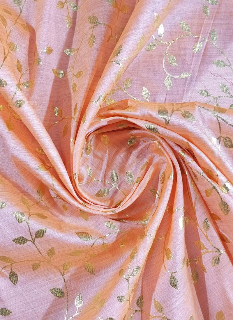 Buy Pink Foil Printed Matka Silk Fabric Art Silk Blended Patterned Online Shopping Efsukh19pilf