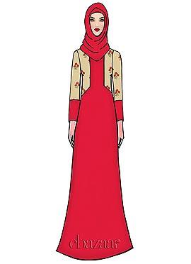 Pink Georgette Abaya