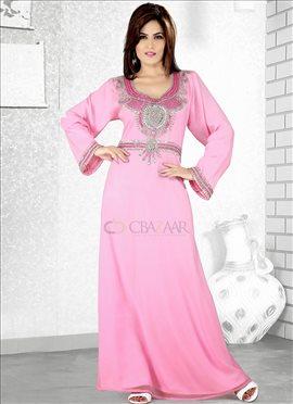 Pink Georgette Fustan