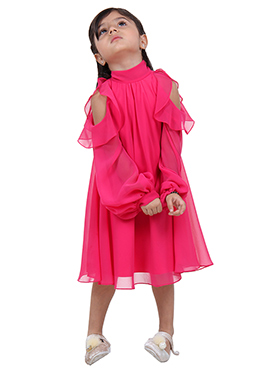 Pink Georgette kids wear