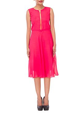 Pink Georgette Dress