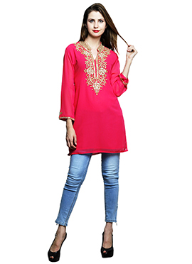 Pink Georgette Tunic