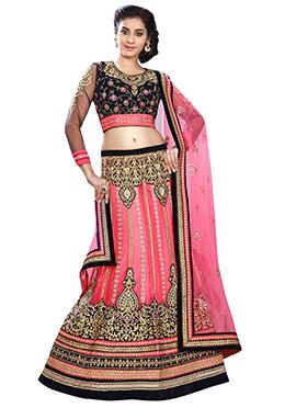 Pink Heavy Embroidered Lehenga Choli