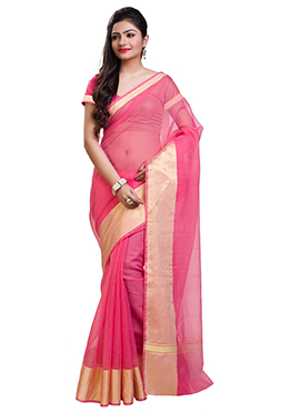 Pink Kota Art Silk Cotton Saree