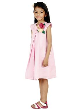 Pink Linen Kids Dress