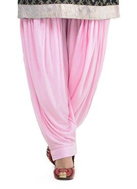 Pink Lycra Patiala Pant