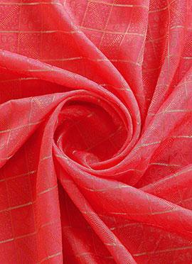 Pink Mogra Silk Fabric