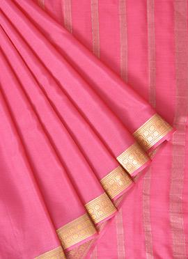 Pink Mysore Pure Silk Saree