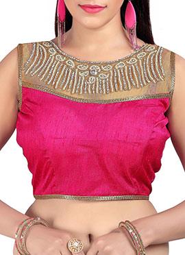 Pink N Beige Art Silk Blouse