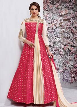Pink N Cream Embroidered Gown