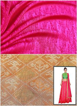 Pink N Cream Circular Skirt N Crop Top