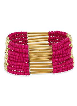 Pink N Golden Colored Bracelet