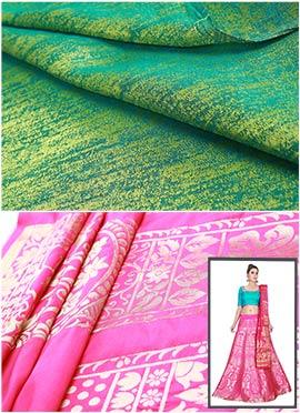 Pink N Green Umbrella Lehenga Choli