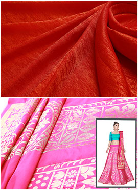Pink N Orange Umbrella Lehenga Choli