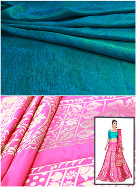 Pink N Turquoise Umbrella Lehenga Choli