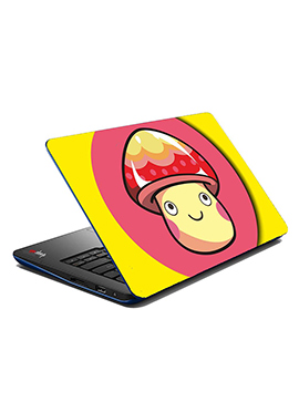 Pink N Yellow Yellow Smiley Face Laptop Skin