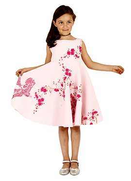 Pink Neoprene Kids Dress