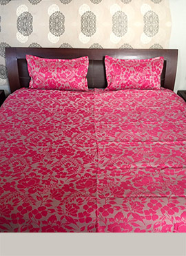 Pink Nylon Bed Spread