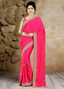 Pink Pure Handloom Silk Saree