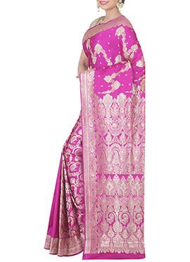 Pink Pure Silk Saree