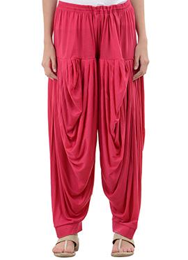 Pink Rayon Dhoti Pant